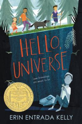 "Cover of the Newbery Medal winner, ""Hello, Universe""."