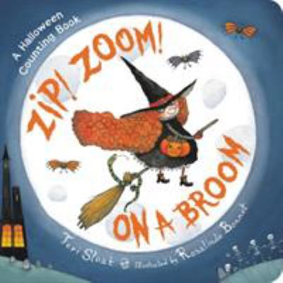 Zip! zoom! on a broom.